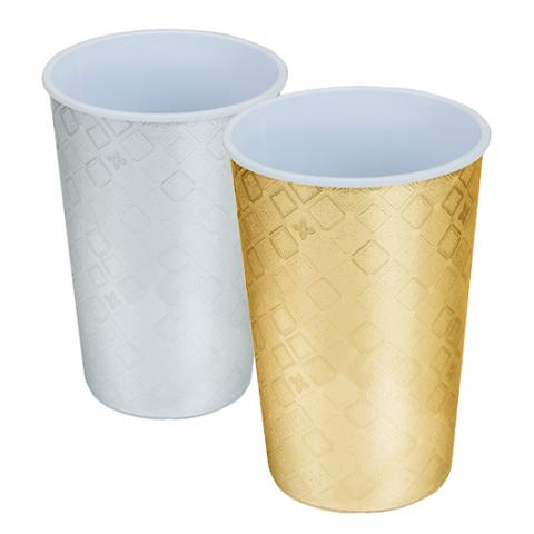 Copo-550ml-Plástico-Label-Festa-Prata-e-Dourado