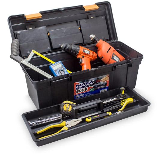 Maleta-Maxi-Box-Senior-5009-Aberta-com-ferramentas